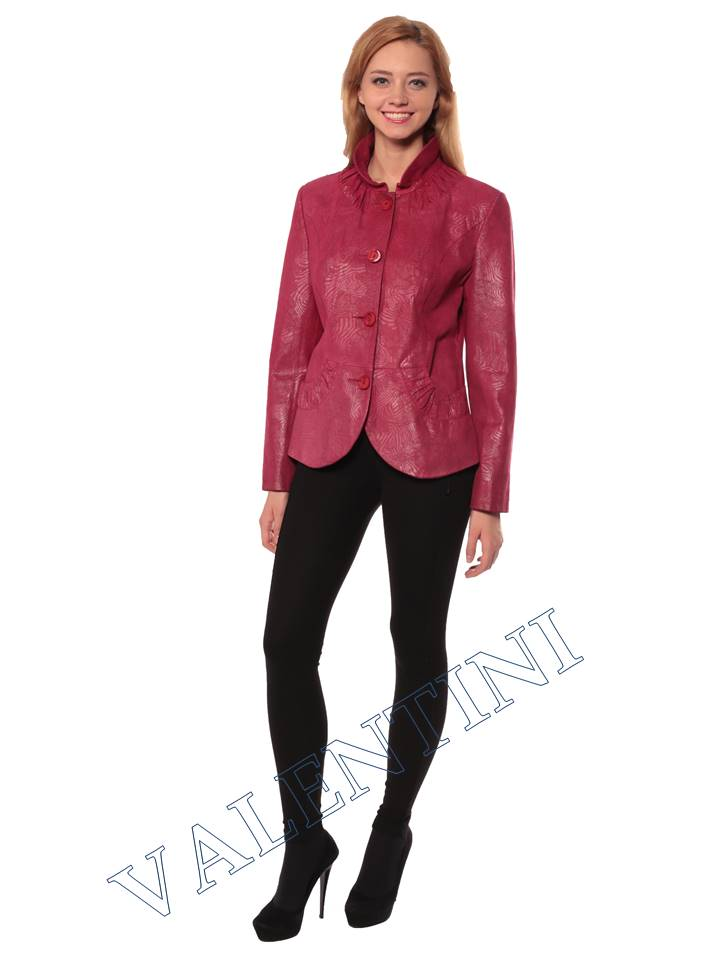 Женская кожаная куртка STELLA DORO 14093