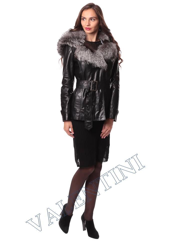 Кожаная куртка с чернобуркой VALENTINI L-30(70)