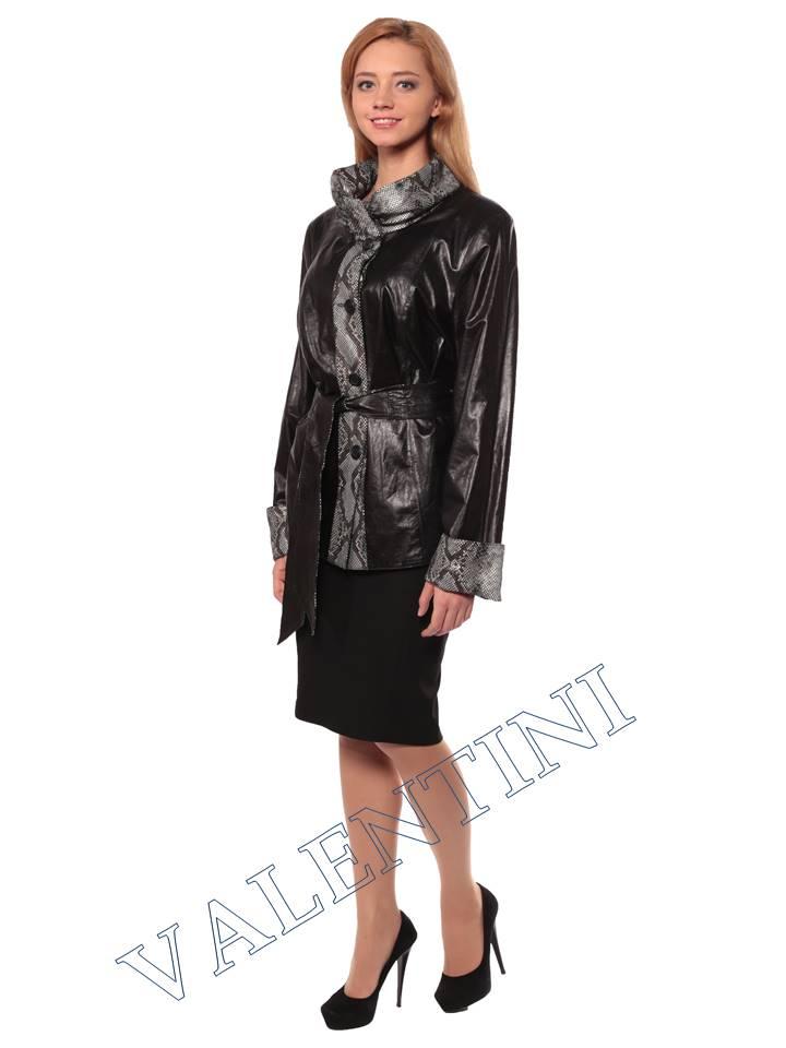 Женская кожаная куртка GRAFINIA кк-94