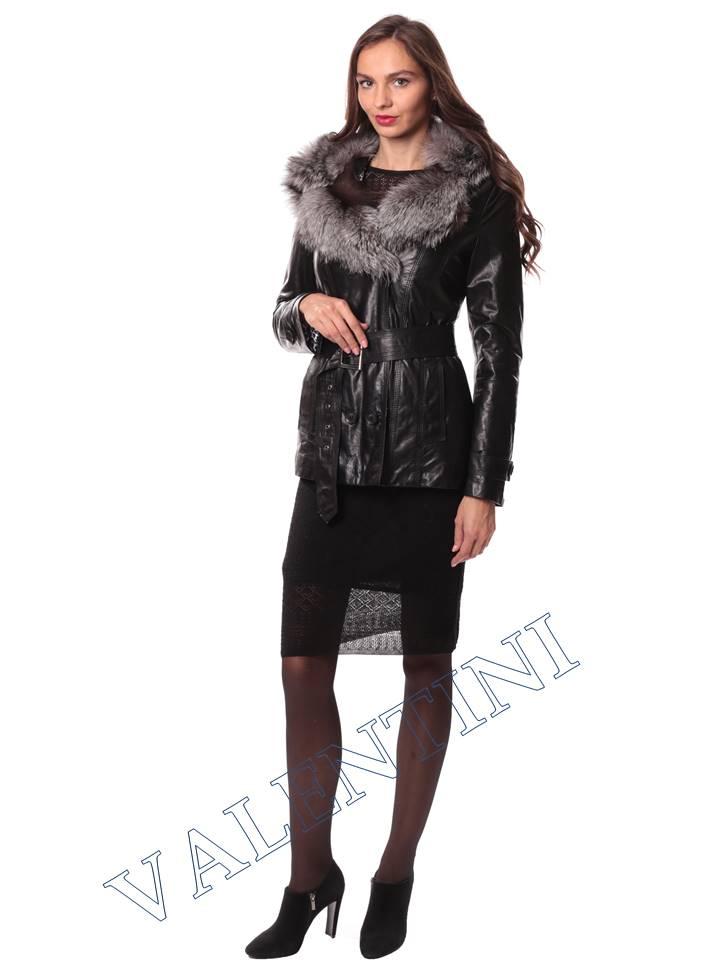 Кожаная куртка с чернобуркой VALENTINI L-30(70) - 1