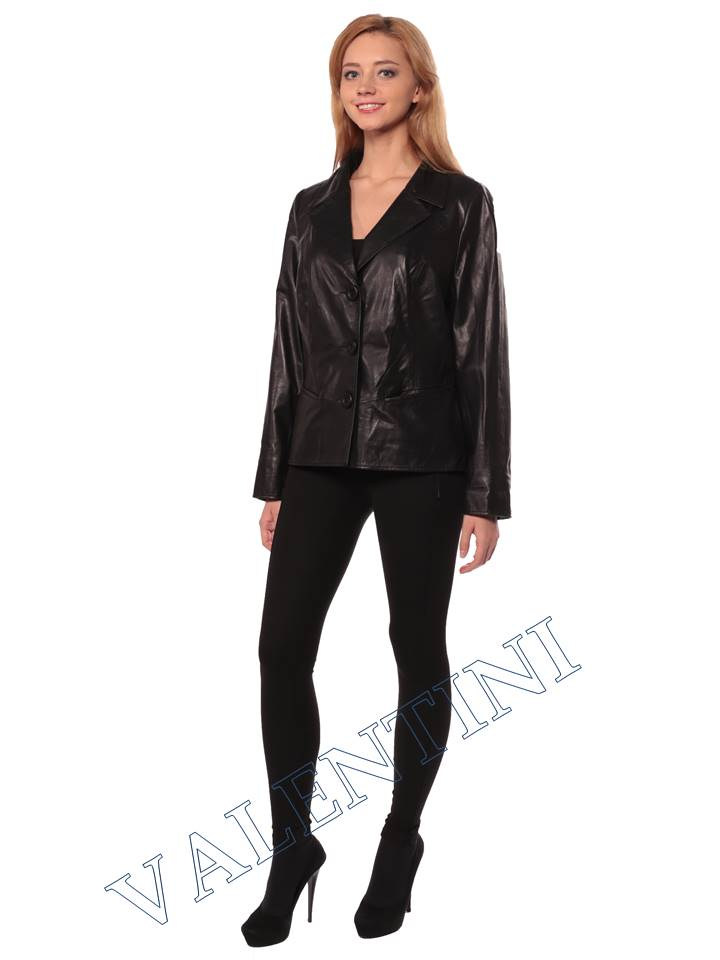 Женский кожаный пиджак STELLA DORO 14090