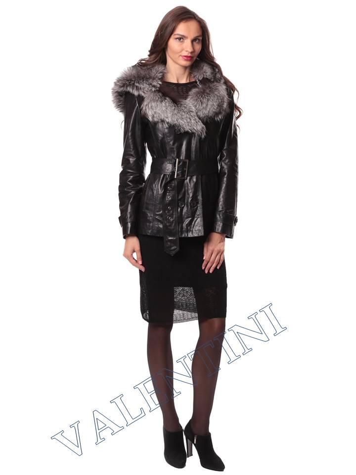 Кожаная куртка с чернобуркой VALENTINI L-30(70) - 3