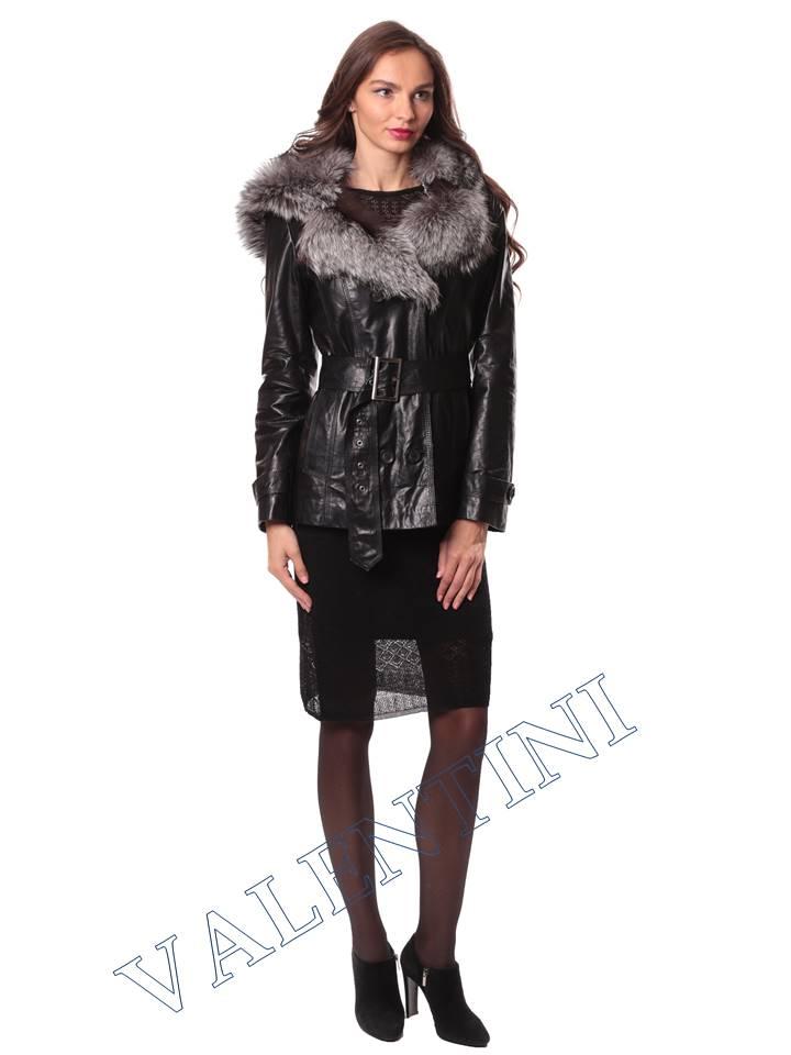 Кожаная куртка с чернобуркой VALENTINI L-30(70) - 2