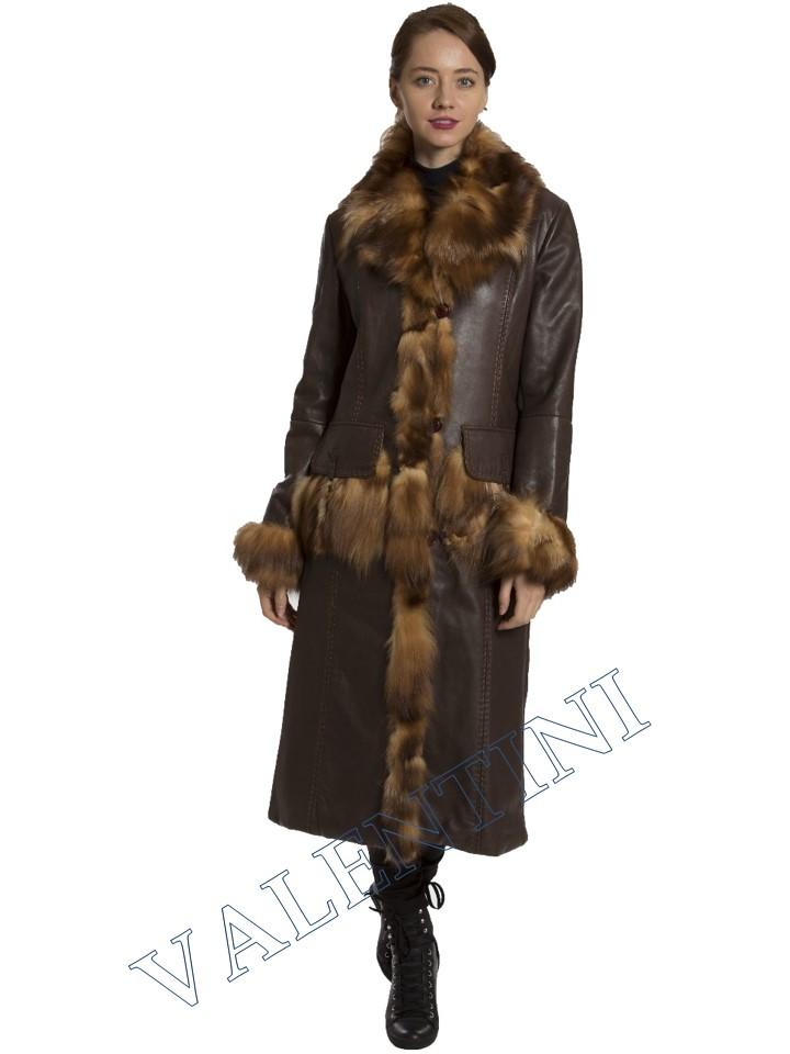 Кожаное пальто SUED MOD 1985-TT - 1
