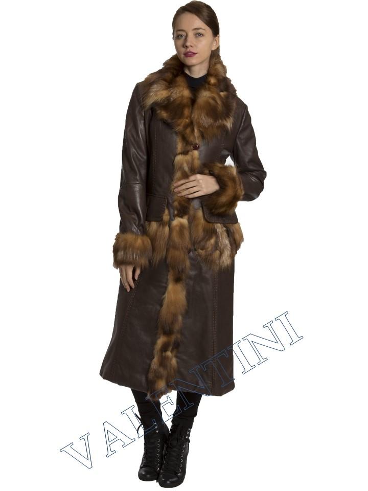Кожаное пальто SUED MOD 1985-TT - 2