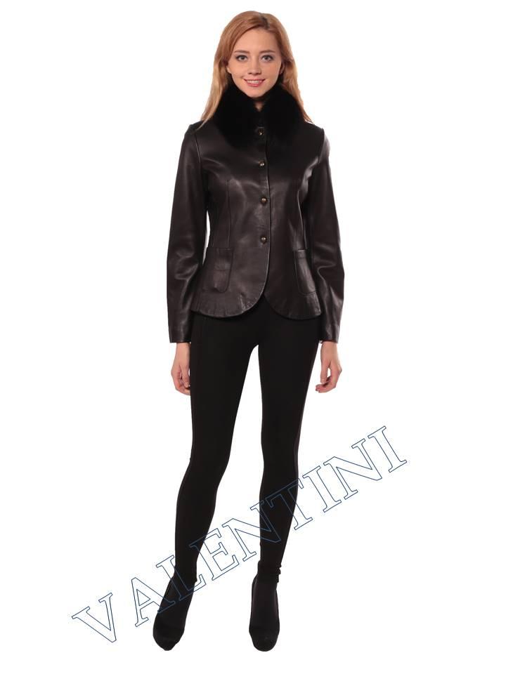 Женская кожаная куртка SUED MOD f-066 - 1