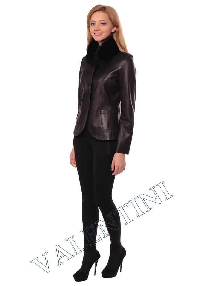 Женская кожаная куртка SUED MOD f-066 - 2