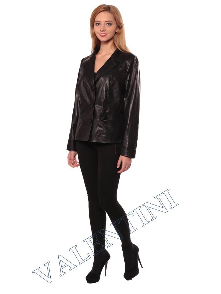 Женский кожаный пиджак STELLA DORO 14090 - 3
