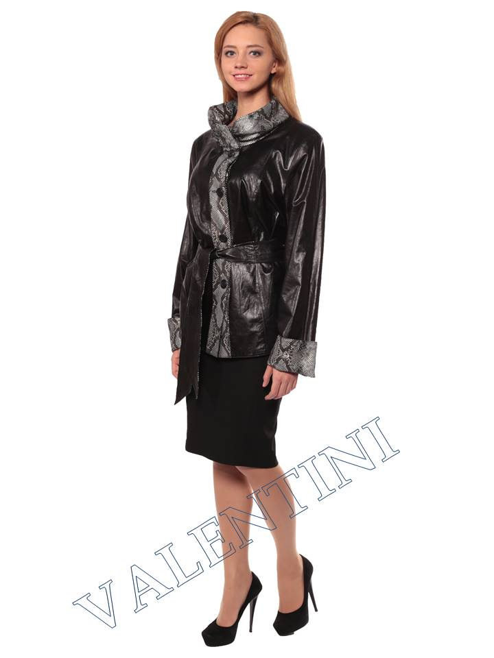 Женская кожаная куртка GRAFINIA кк-94 - 3