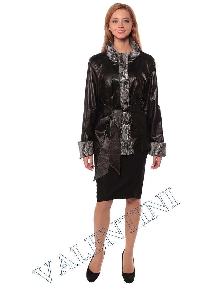 Женская кожаная куртка GRAFINIA кк-94 - 1