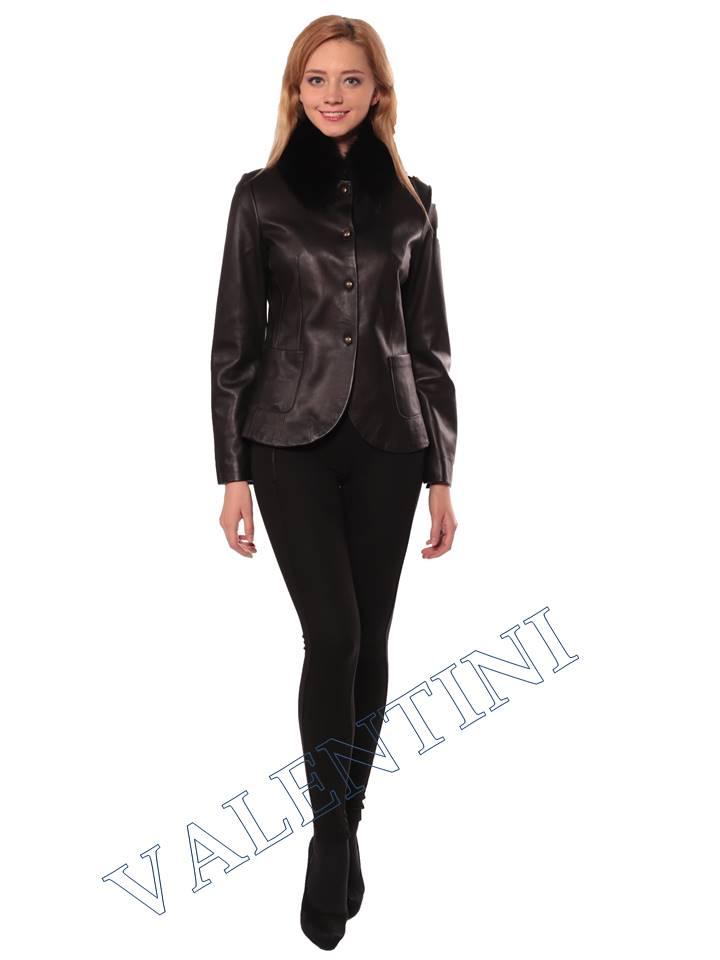Женская кожаная куртка SUED MOD f-066 - 4