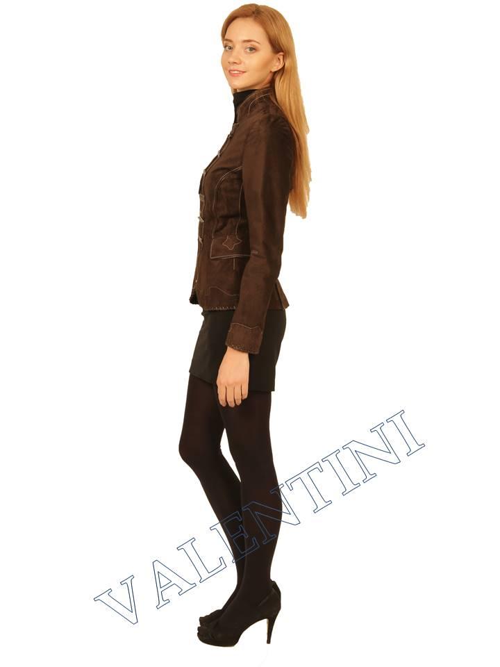 Куртка кожаная SUED MOD FLORELLA - 3