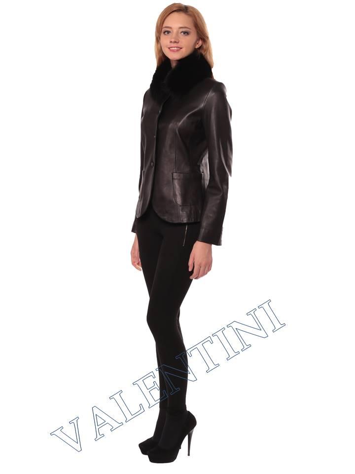 Женская кожаная куртка SUED MOD f-066 - 5