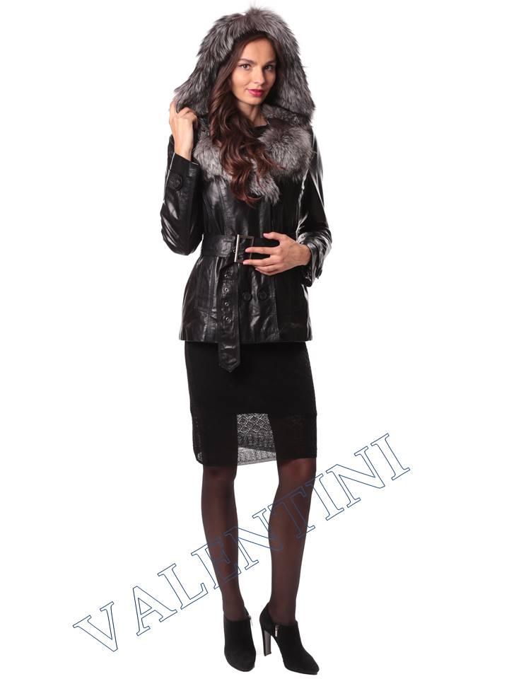 Кожаная куртка с чернобуркой VALENTINI L-30(70) - 6