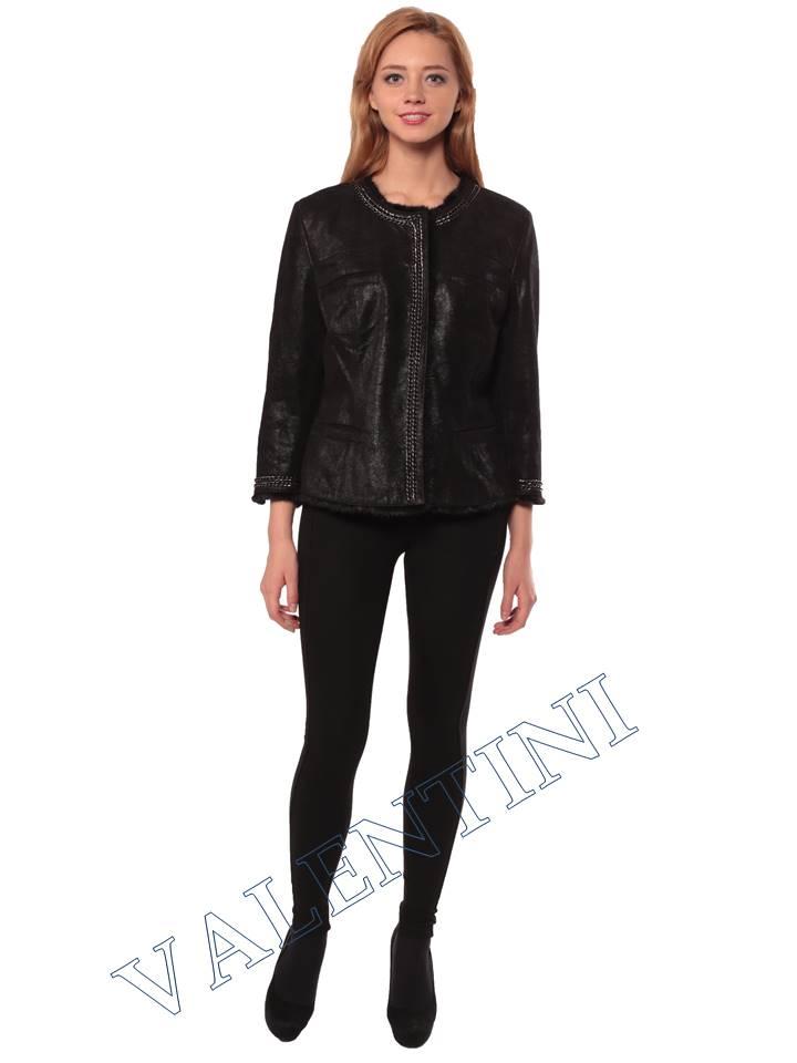 Женская кожаная куртка STELLA DORO 14255