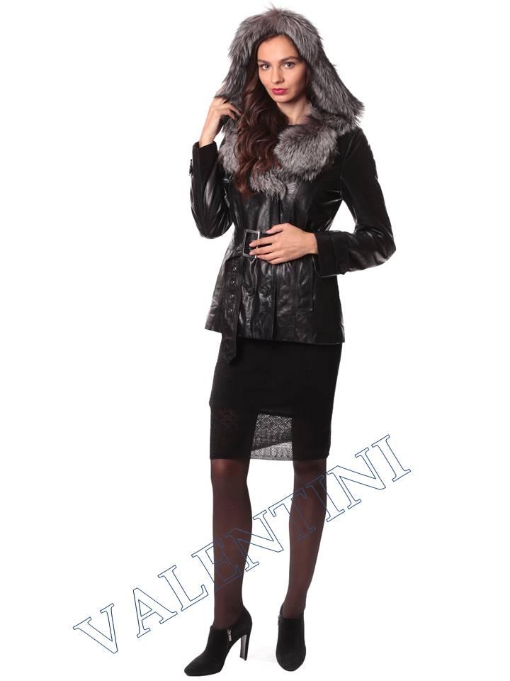 Кожаная куртка с чернобуркой VALENTINI L-30(70) - 5