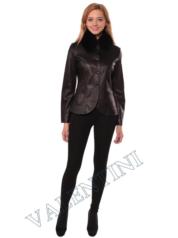 Женская кожаная куртка SUED MOD f-066 - 3
