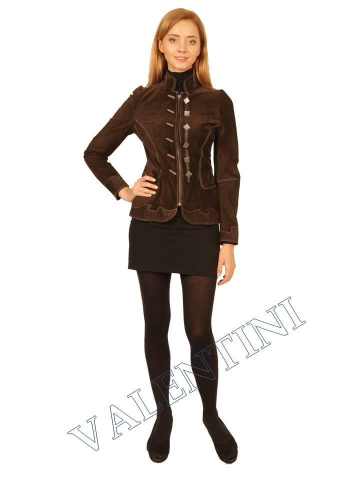 Куртка кожаная SUED MOD FLORELLA - 2