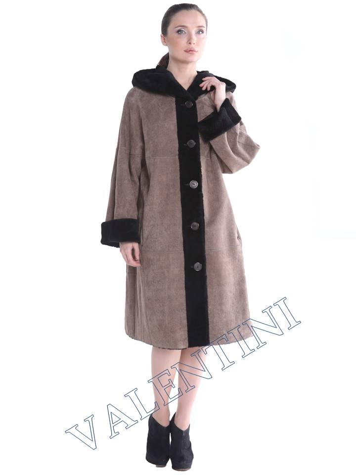 Женская дубленка VALENTINI мод.338-100-1 - 2