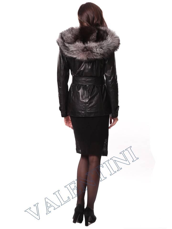 Кожаная куртка с чернобуркой VALENTINI L-30(70) - 8