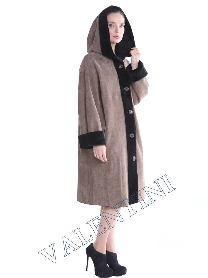 Женская дубленка VALENTINI мод.338-100-1 - 5