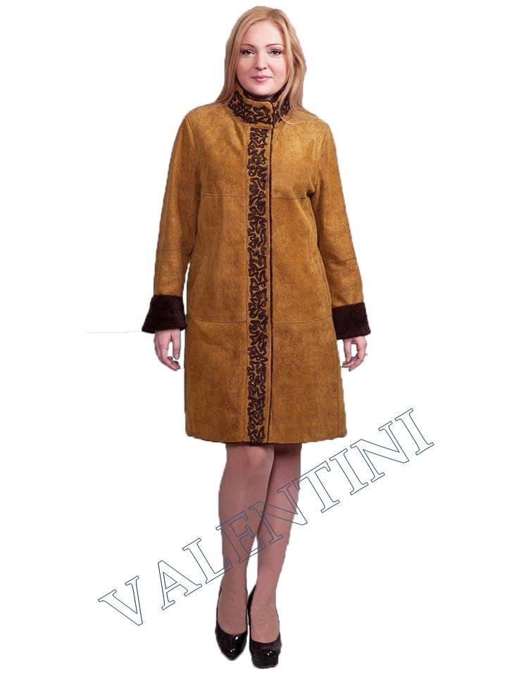 Дубленка в этническом стиле мод.366-90
