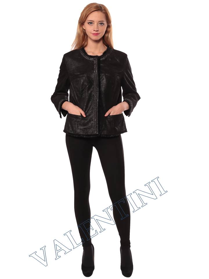 Женская кожаная куртка STELLA DORO 14255 - 2