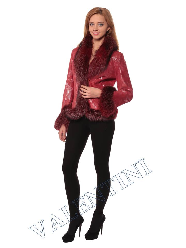 Женская кожаная куртка STELLA DORO 5354
