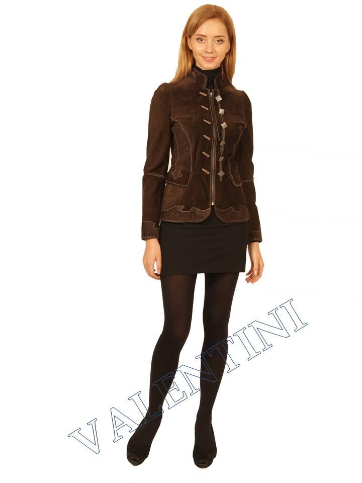 Куртка кожаная SUED MOD FLORELLA - 1
