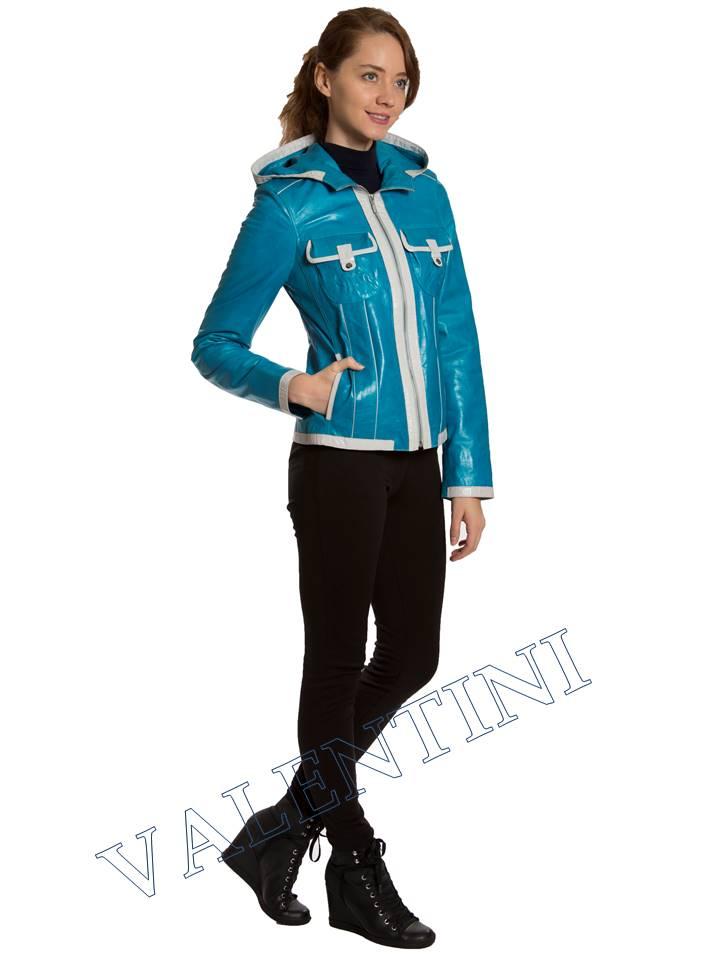 Кожаная куртка VALENTINI 2253-1 - 4