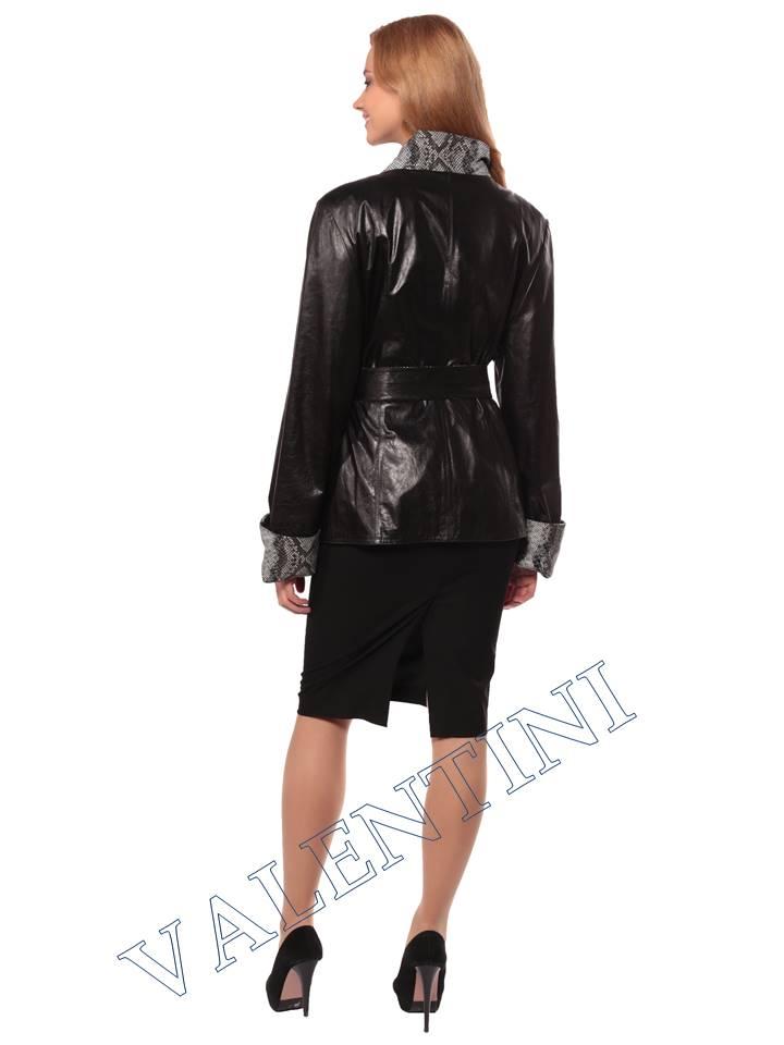 Женская кожаная куртка GRAFINIA кк-94 - 5