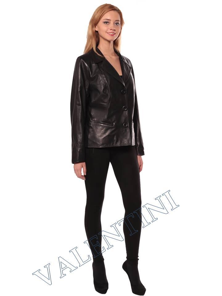 Женский кожаный пиджак STELLA DORO 14090 - 5