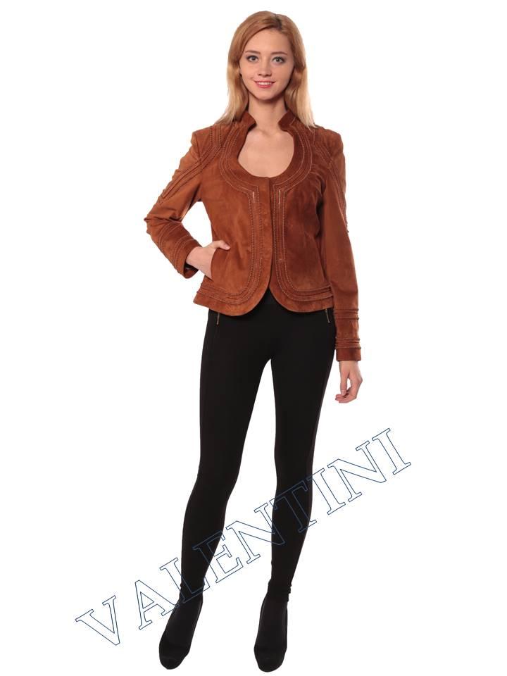 Женская кожаная куртка STELLA DORO 5756 - 5
