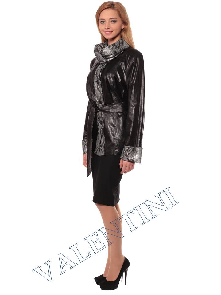 Женская кожаная куртка GRAFINIA кк-94 - 4