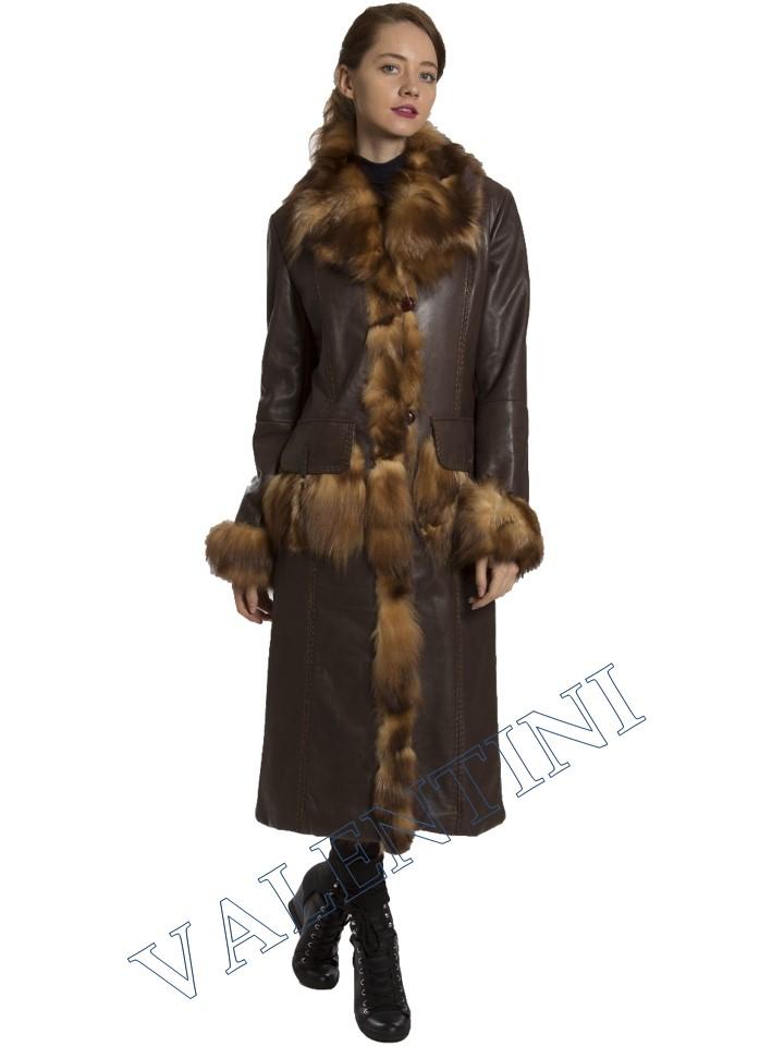 Кожаное пальто SUED MOD 1985-TT - 3
