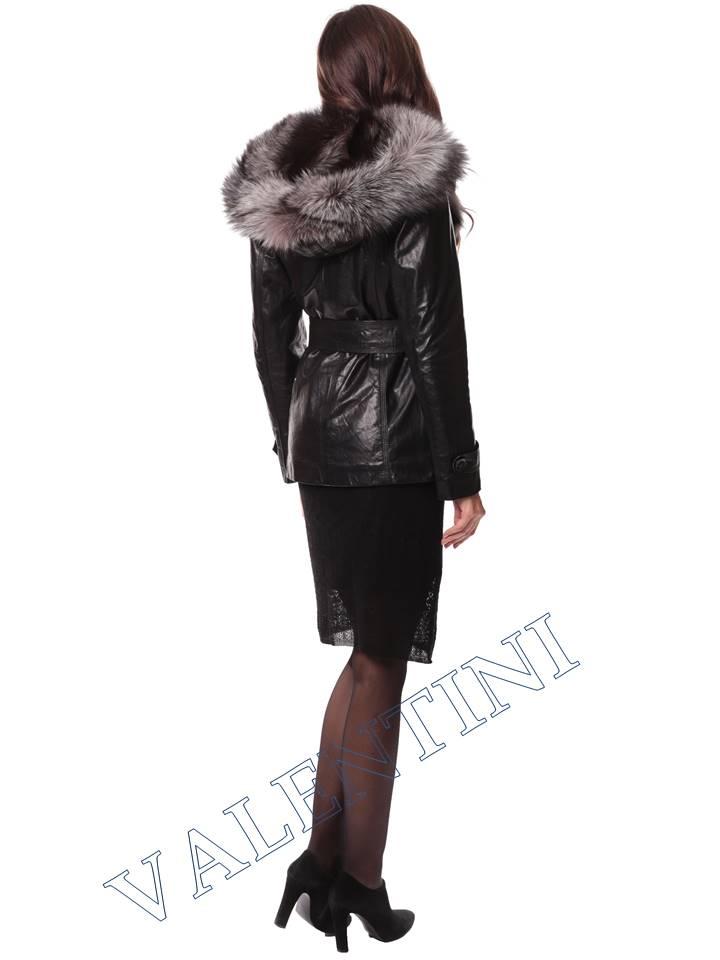 Кожаная куртка с чернобуркой VALENTINI L-30(70) - 7