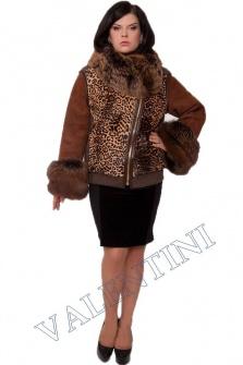Короткая леопардовая дубленка от PANTERREZ 7615 – 1