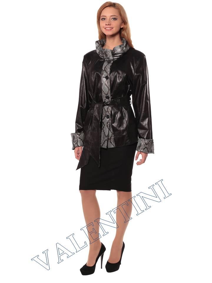 Женская кожаная куртка GRAFINIA кк-94 - 2