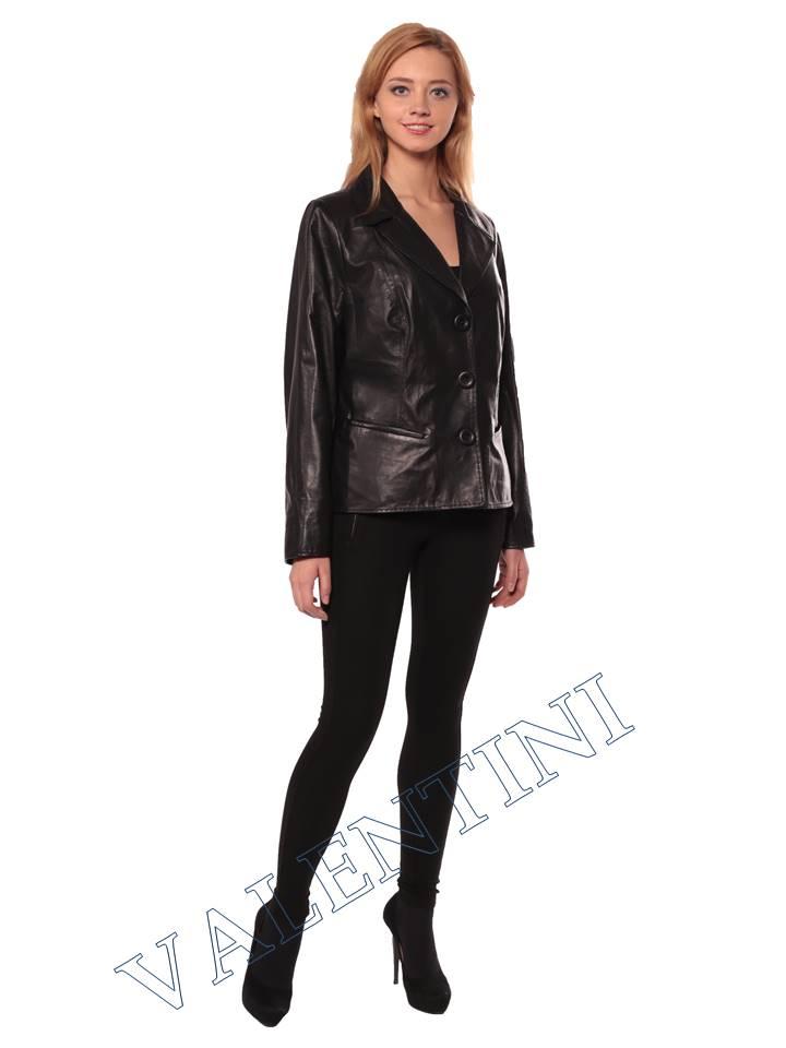 Женский кожаный пиджак STELLA DORO 14090 - 4